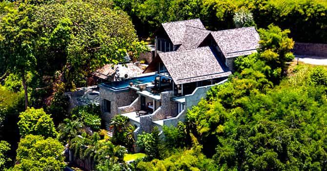 Villa Rom Trai  Aerial View